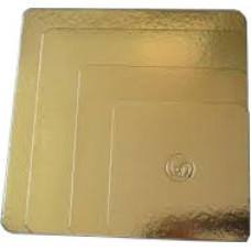 Base de Cartão Quadrada Dourada 24x24cm Un.