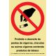 Sinal Proibido Descarte Cigarros PVC Fotolum un.
