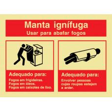Sinal Manta Anti-Fogo PVC Fotolum Un.