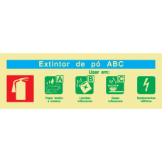 Sinal Extintor Pó ABC PVC Fotolum Un.