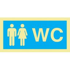 Sinal WC Misto PVC Fotolum Un.
