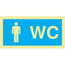 Sinal WC Masculino PVC Fotolum Un.