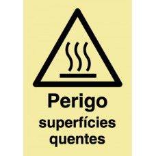 Sinal Superfícies Quentes PVC Fotolum Un.