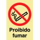 Sinal Proibido Fumar PVC Fotolum un.