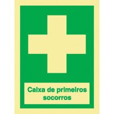 Sinal Cx Primeiros Socorros Info. PVC Fotolum un.