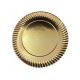 Prato de Cartão Dourado nº6 G 29.5cm Emb. com 100 Un.
